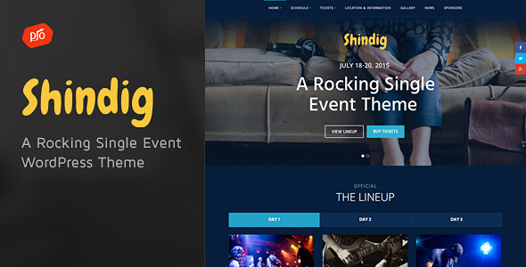 Shindig – A Rocking Single Event Theme