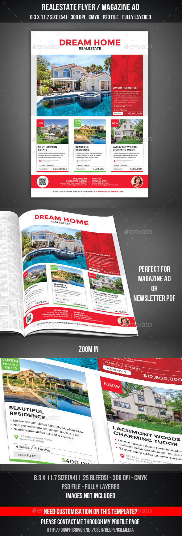 Realestate Flyer / Magazine AD - Commerce Flyers