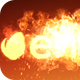 Molten Fire - Rectangular Logo - VideoHive Item for Sale