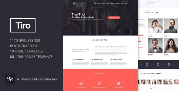 Trio - Bootstrap Responsive Multipurpose Template - Portfolio Creative