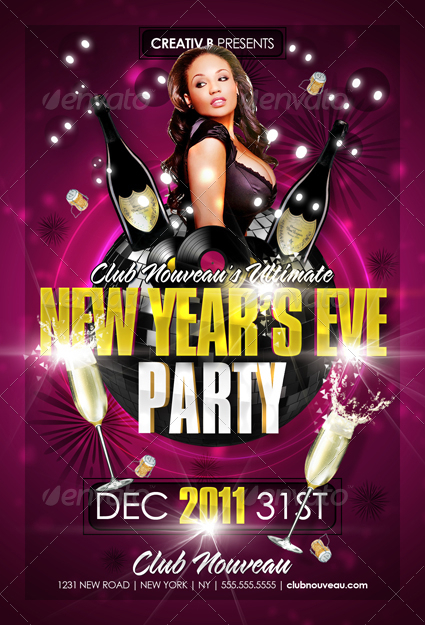 New Years Eve Party Flyer Templates By Creativb | Graphicriver