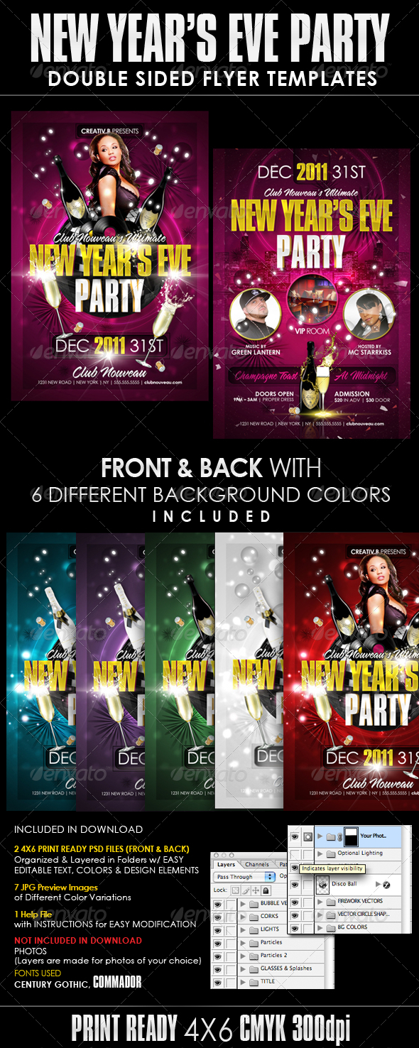 New Years Eve Party Flyer Templates - Clubs & Parties Events