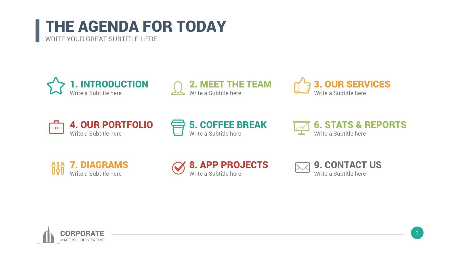 executive presentation template