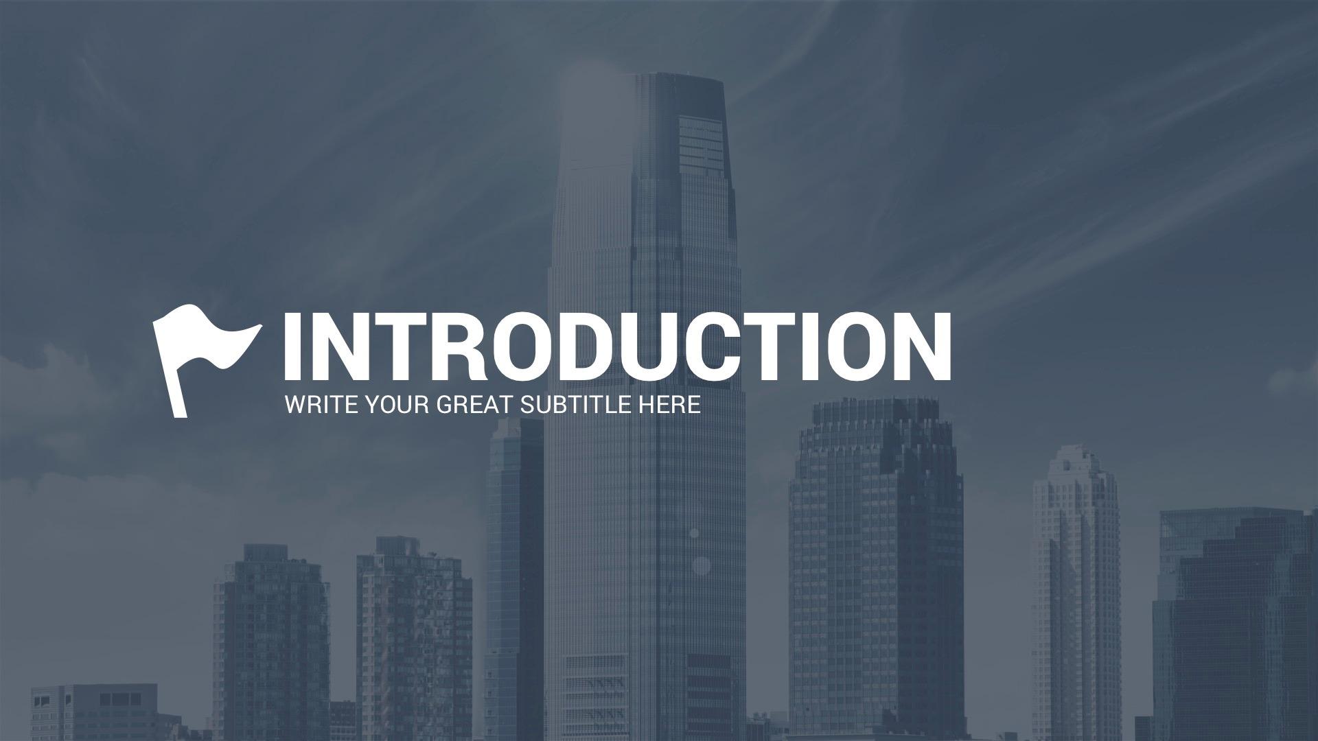corporate overview powerpoint templatelouistwelve-design, Modern powerpoint