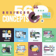 Set of Flat Design Style Concept Icons - GraphicRiver Item for Sale