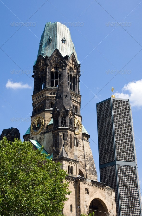 Gedaechtniskirche in Berlin - Stock Photo - Images