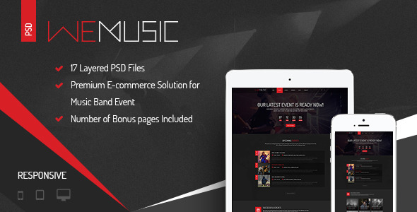 WeMusic - Music Band Event PSD Template