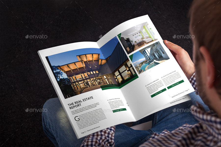 Real Estate Brochure Template By Alhaytar | Graphicriver