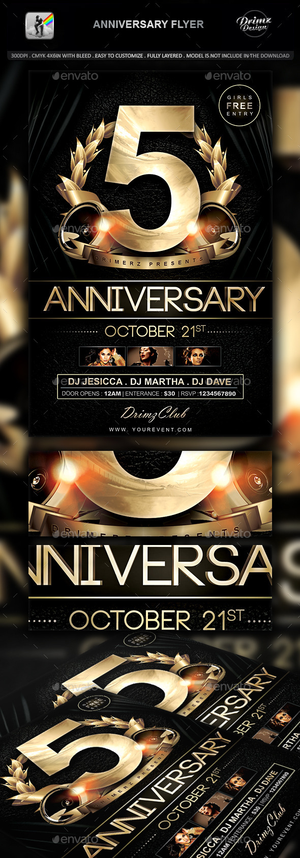 Anniversary Flyer   Events Flyers