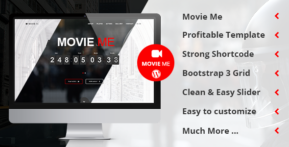 Image of Movie Me - One Page Responsive WordPress Theme