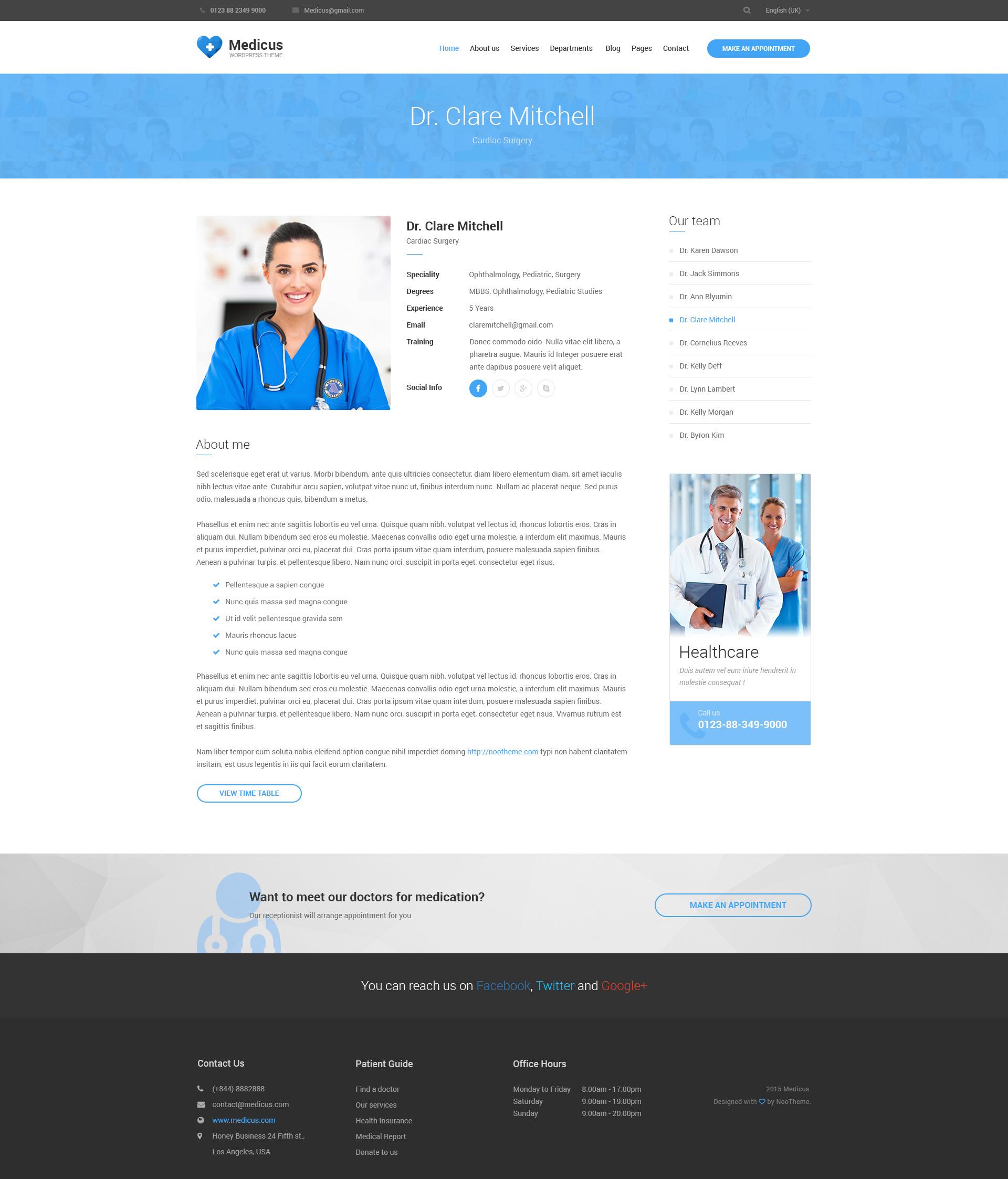 Medicus - Multipurpose Medical PSD Template