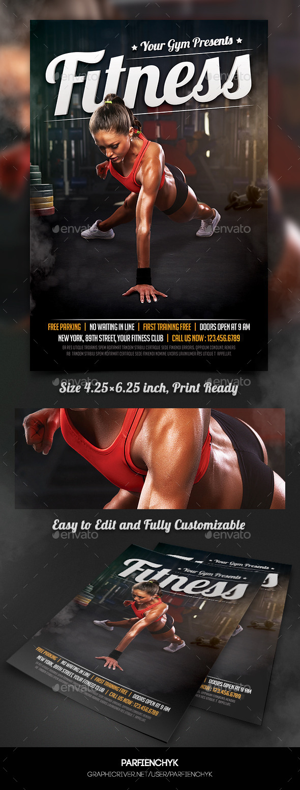 Fitness Sport Flyer Template - Sports Events