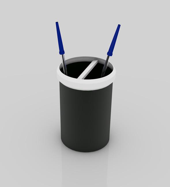 Plastic Pen Stand  - 3DOcean Item for Sale