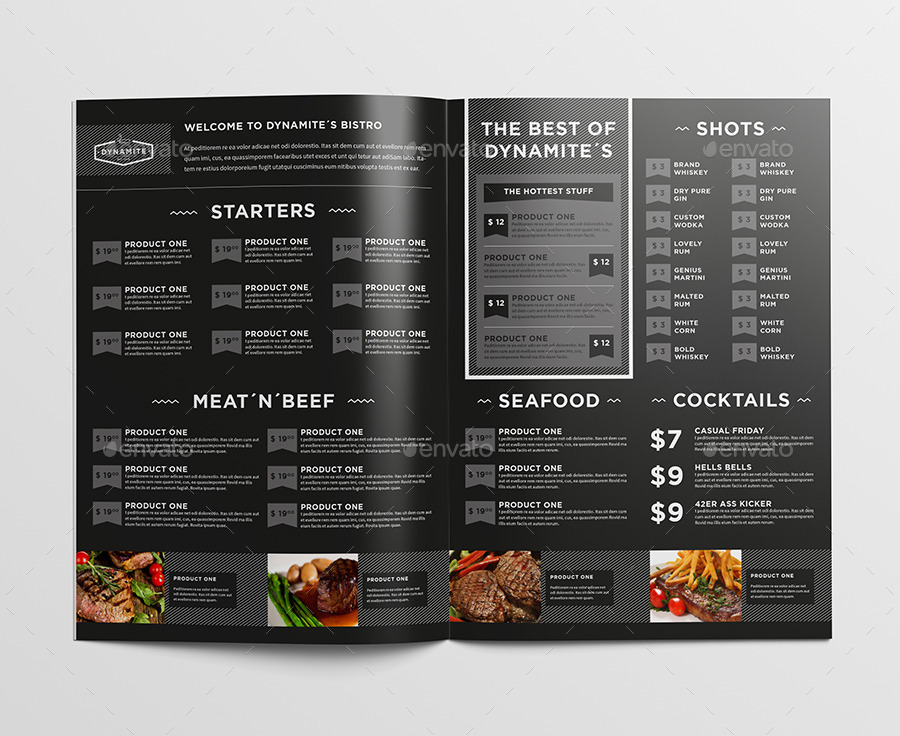 Food Menu Bundle by egotype | GraphicRiver
