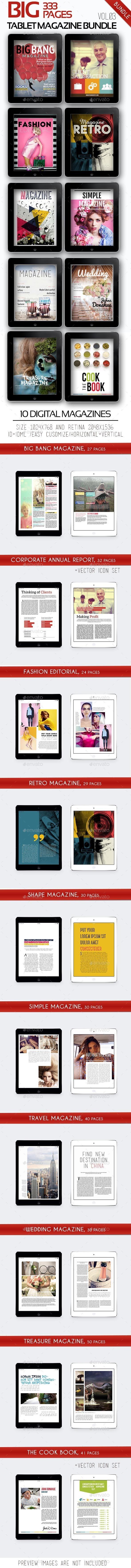 Big iPad &Tablet Magazine Bundle Vol.03