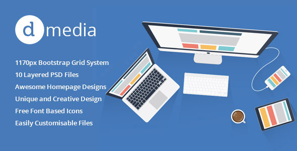 dMedia - Miscellaneous PSD Templates