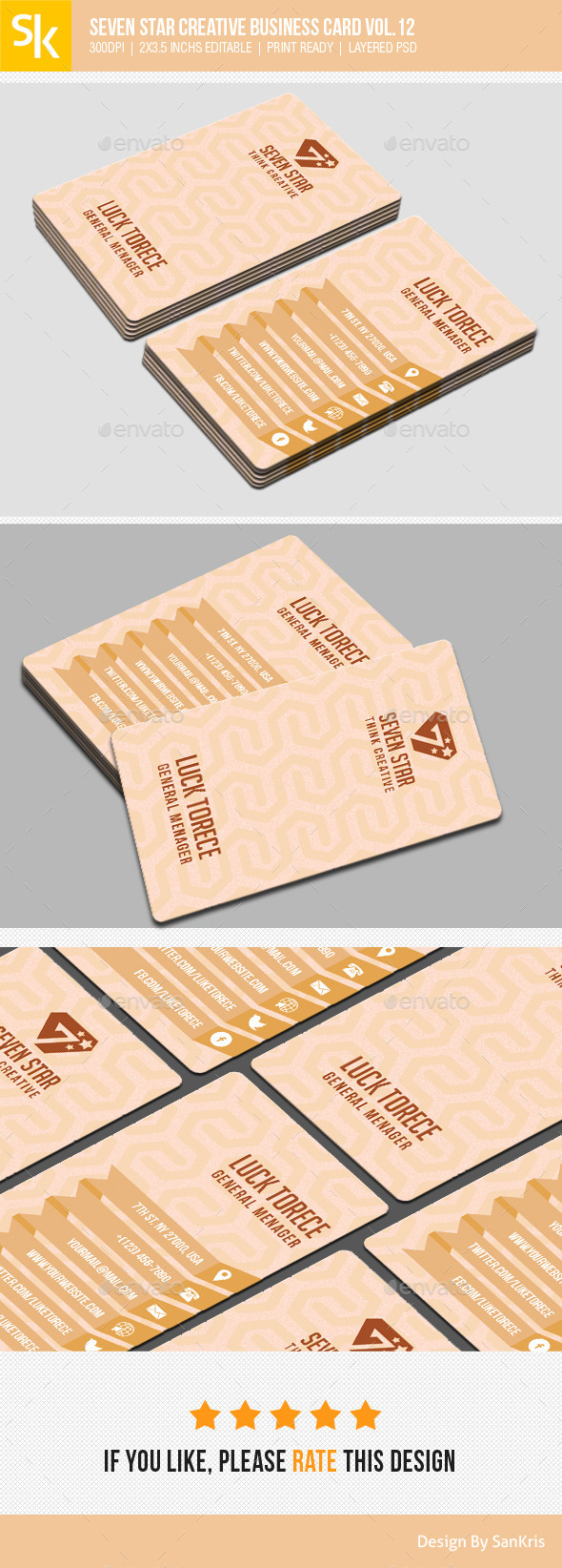 Seven Star Creative Business Card Vol.12 - Retro/Vintage Business Cards