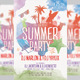 Summer Party Watercolor Style Flyer - GraphicRiver Item for Sale