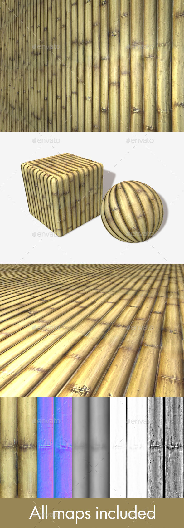 Bamboo Seamless Texture - 3DOcean Item for Sale