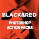 Black and Red Photoshop Action Packs