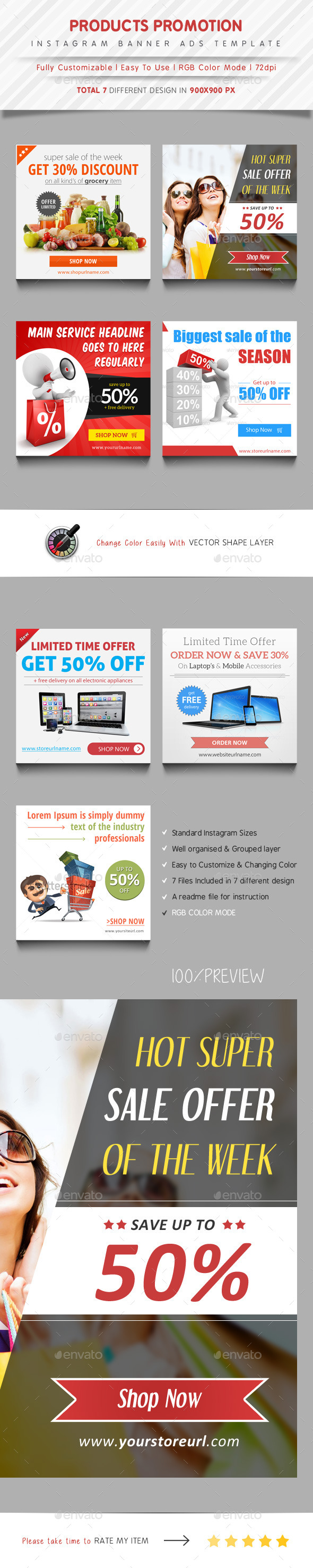 Instagram Banner Ads Template By Samiul GraphicRiver - Instagram ad template