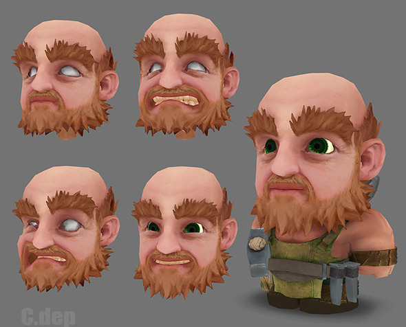Handpainted Lowpoly  Hammersmith + Facial Blendsha - 3DOcean Item for Sale