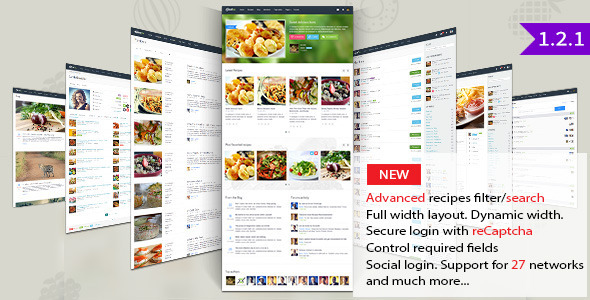Gustos – Community-Driven Recipes, WordPress Theme