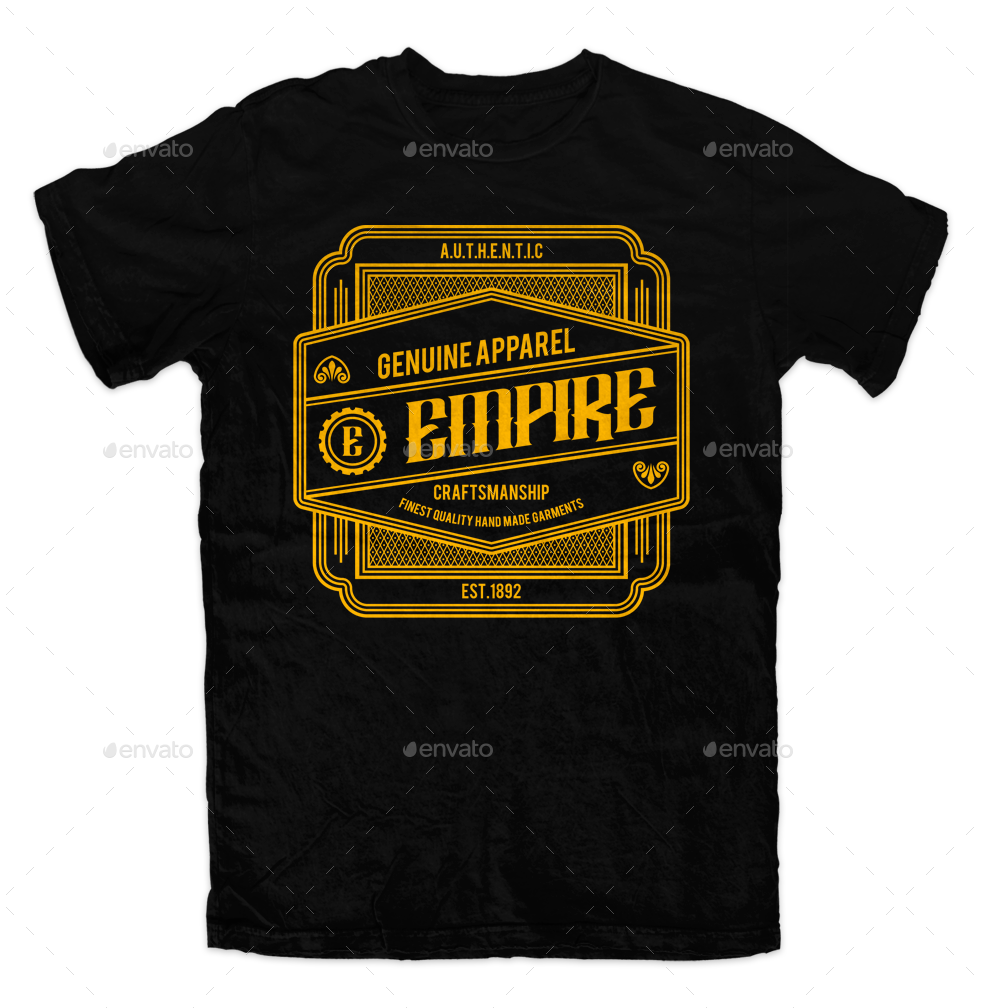 Vintage Tshirt Template By Svperkidz GraphicRiver - Property of t shirt template