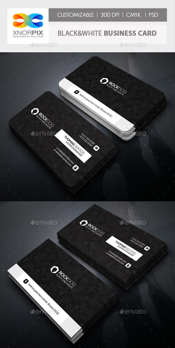 Black&White Business Card - Corporate Business Cards