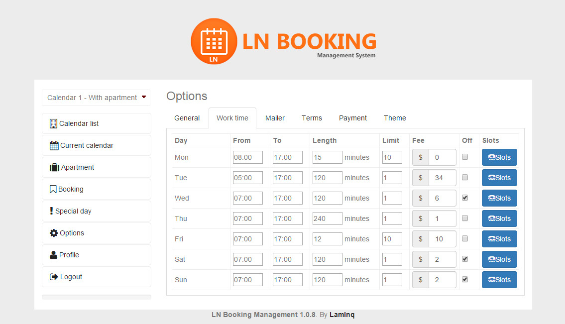 Calendar Booking : Booking calendar support multiple users by lamlnq codecanyon