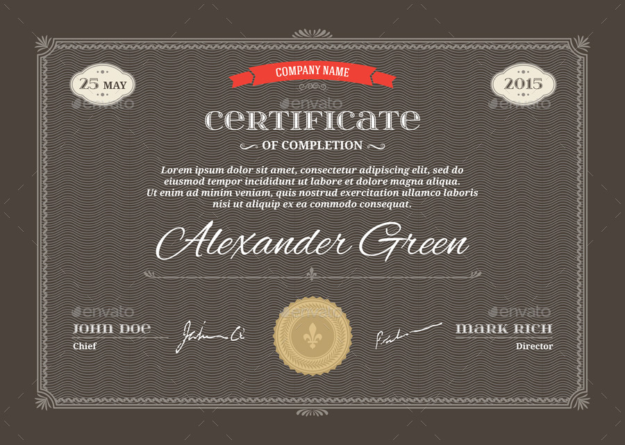 Certificate template psd eps print ready by graphic spirit certificate a4 01g certificate a4 04g certificate a4 05g yadclub Choice Image