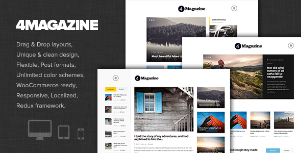 4magazine – Fresh and Modern Mag/Blog Theme