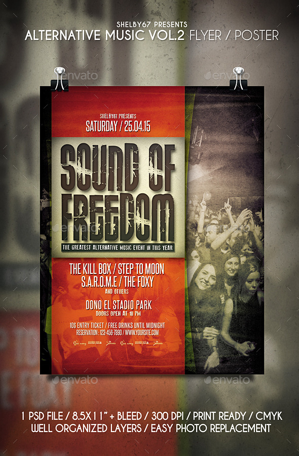 Alternative Music Flyer / Poster Vol.2 - Events Flyers