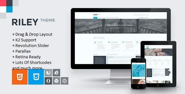 RILEY – Responsive MultiPurpose Joomla Template