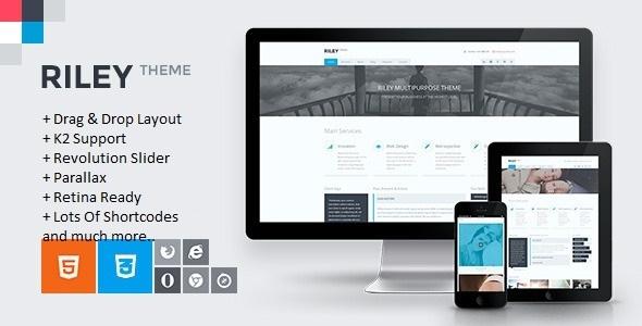 RILEY - Responsive MultiPurpose Joomla Template - Business Corporate