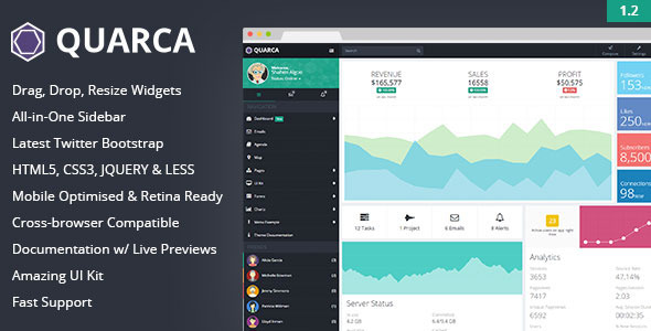 Quarca – Responsive Admin Dashboard Template