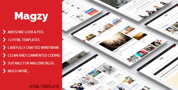 Magzy – Clean Magazine HTML Template