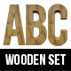 3D Wooden Letters and Numbers