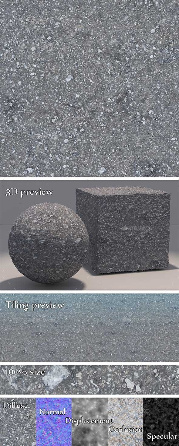 Soil - Rocky Seamless Texture - 3DOcean Item for Sale