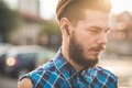 young handsome bearded hipster man - PhotoDune Item for Sale