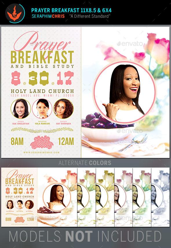 prayer breakfast church flyer template by seraphimchris
