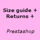 Size returns policy guide - Prestashop Module - CodeCanyon Item for Sale