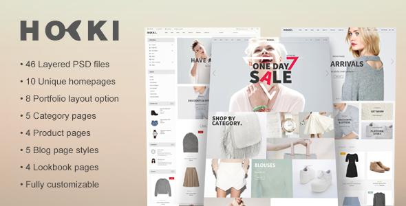 Hoki – eCommerce PSD Template