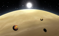 Extrasolar planet. Gas giant with moons. - PhotoDune Item for Sale