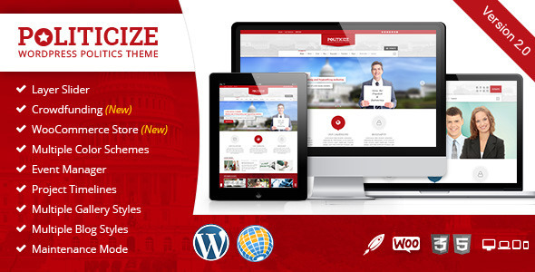 Politicize – Political Responsive WordPress Theme