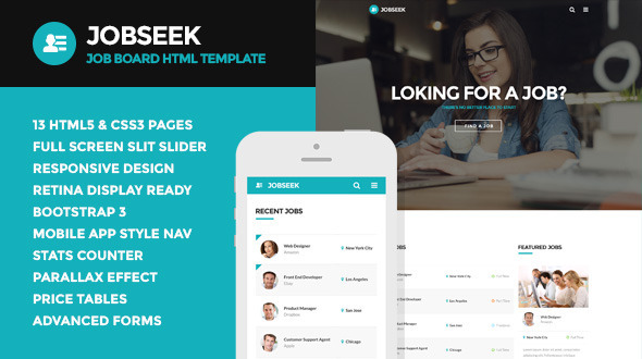 Jobseek – Job Board HTML Template