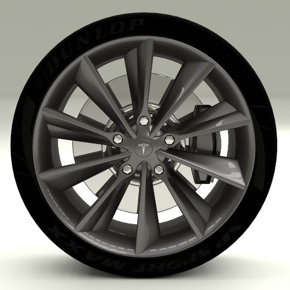 Tesla Model S Wheel - 3DOcean Item for Sale
