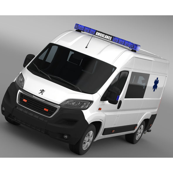 Peugeot Boxer Van Ambulance 2015  - 3DOcean Item for Sale