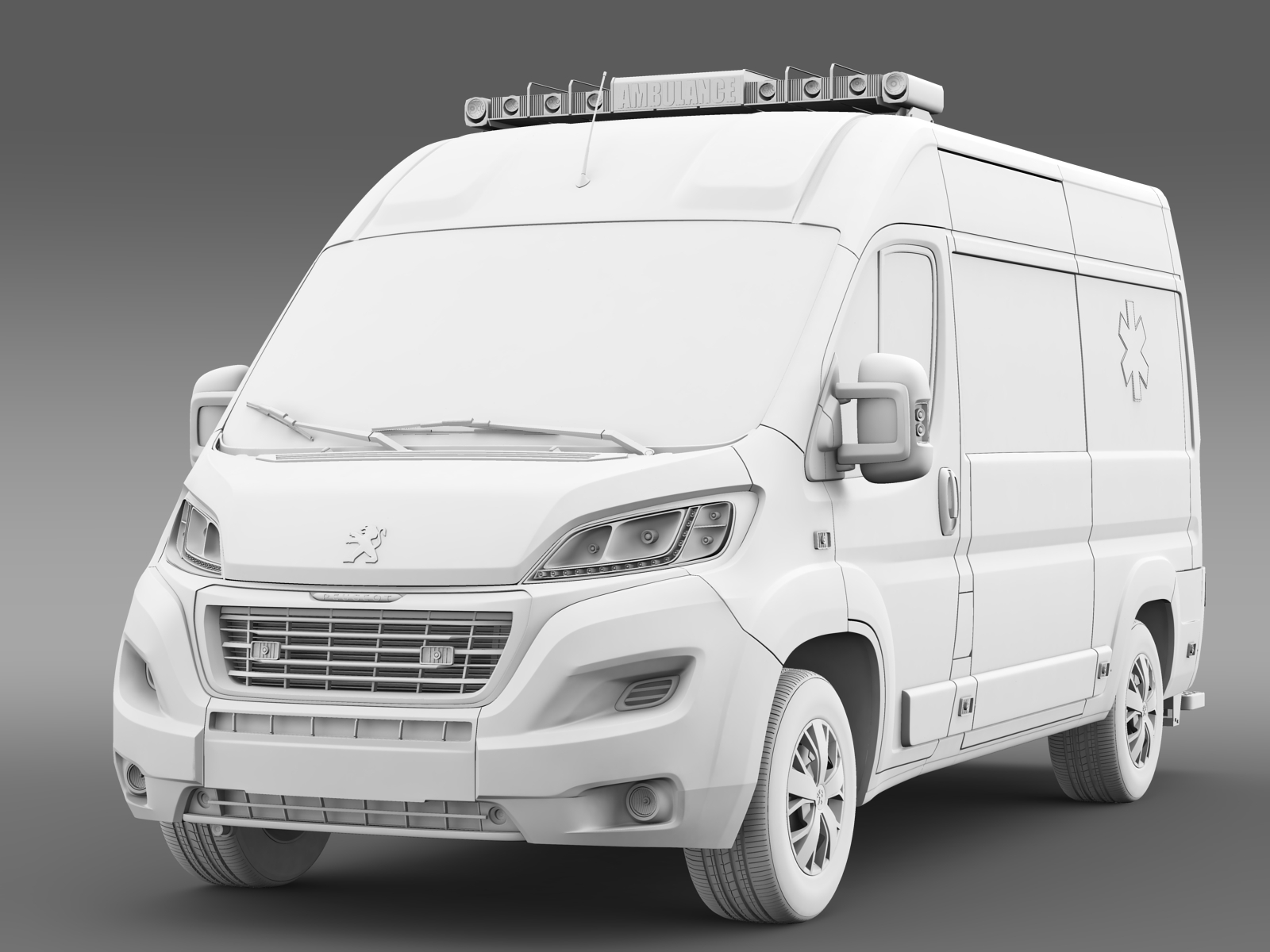 peugeot boxer van ambulance 2015 by creator 3d 3docean. Black Bedroom Furniture Sets. Home Design Ideas