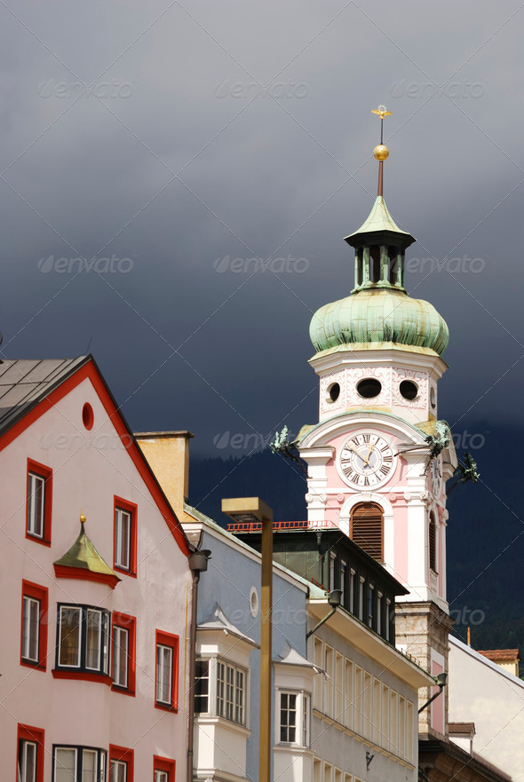 Church in Innsbruck - Stock Photo - Images